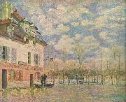 Alfred Sisley Kahn in der Uberschwemmung oil painting reproduction