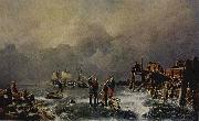 Andreas Achenbach Ufer des zugefrorenen Meeres oil painting reproduction