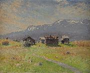 Anton Genberg Norrlandsk fabovall oil painting