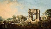 Antonio Joli The Arch of Trajan at Benevento oil on canvas painting by Antonio Joli. oil painting