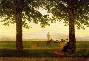 Caspar David Friedrich The Garden Terrace oil painting reproduction