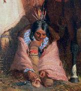 Charles Deas A Group of Sioux, detail oil painting