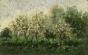 Charles Francois Daubigny Apple Trees in Blossom oil painting