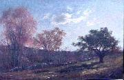 Charles Furneaux Landscape with a Stone Wall oil painting reproduction