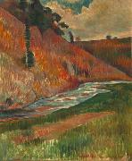 Charles Laval Aven Stream oil painting
