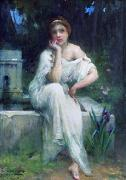 Charles-Amable Lenoir Study for A Meditation oil painting