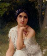 Charles-Amable Lenoir Pensive oil painting