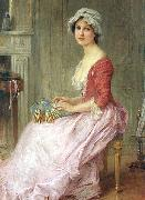 Charles-Amable Lenoir Seamstress oil painting