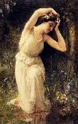 Charles-Amable Lenoir A Nymph In The Forest oil painting reproduction