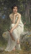 Charles-Amable Lenoir Flute Player oil painting