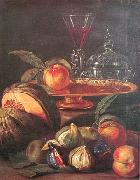 Cristoforo Munari Vases Glass and Fruit oil painting reproduction