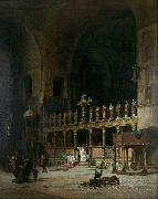 David Dalhoff Neal INTERIOR OF ST.MARKS,VENICE oil painting