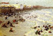 Edward Henry Potthast Prints Oil painting of Coney Island oil painting