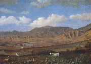 Enoch Wood Perry, Jr. Kualoa Ranch oil painting