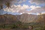 Enoch Wood Perry, Jr. Manoa Valley from Waikiki oil painting