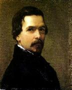 Federico de Madrazo y Kuntz Portrait of Francisco Adolfo de Varnhagen oil painting