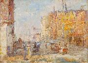 Frederick Mccubbin Collins Street oil painting
