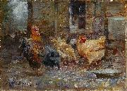 Frederick Mccubbin Chickens oil painting