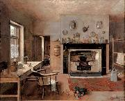 Frederick Mccubbin Kitchen at the old King Street Bakery oil painting