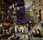 George Wesley Bellows George Wesley Bellows: Cliff Dwellers oil painting reproduction