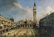 Giovanni Antonio Canal The Piazza San Marco in Venice oil painting