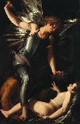 Giovanni Baglione The Divine Eros Defeats the Earthly Eros oil painting reproduction