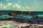 Helen Thomas Dranga Scene from Hilo Looking Toward Hamakua Coast oil painting