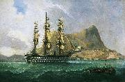Henry J. Morgan HMS 'Marlborough' oil painting reproduction