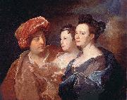Hyacinthe Rigaud La famille Laffite. oil painting