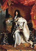 Hyacinthe Rigaud Portrait of Louis XIV oil painting