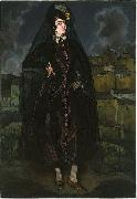 Ignacio Zuloaga y Zabaleta Portrait of Anita Ramerez in Black oil painting