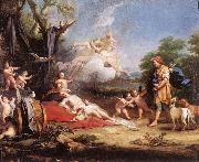 Jacopo Amigoni Venus and Adonis oil painting reproduction