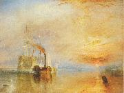 Joseph Mallord William Turner The Fighting Temeraire tugged to her last Berth to be broken up oil painting reproduction
