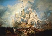 Joseph Mallord William Turner The Battle of Trafalgar by J. M. W. Turner oil painting reproduction