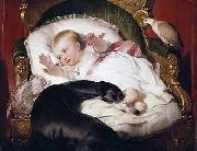 Landseer, Edwin Henry Victoria, Princess Royal, with Eos oil painting reproduction