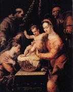 Lavinia Fontana Holy Family with Saints oil painting reproduction