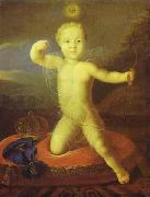 Louis Caravaque Piotr Romanow as Cupid oil painting reproduction