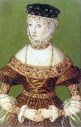 Lucas Cranach the Younger Miniature of Barbara Radziwill oil painting