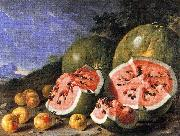 Luis Melendez Still Life with Watermelons and Apples, Museo del Prado, Madrid. oil painting