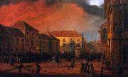 Marcin Zaleski Capture of the Arsenal in Warsaw, 1830. oil painting