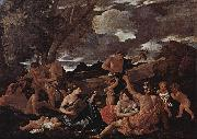 Nicolas Poussin Bacchanal with a Lute-Player oil painting reproduction