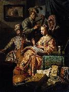 REMBRANDT Harmenszoon van Rijn The Music Party oil painting reproduction