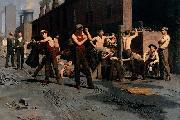 Thomas Pollock Anshutz The Ironworkers Noontime oil painting reproduction