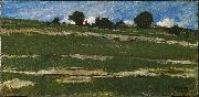 constant troyon Hillside with Rocky Outcrops oil painting