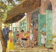 unknow artist Cafe in Gurzuf oil painting reproduction