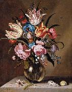 Abraham Bosschaert Flowers in a Glass Vase oil painting