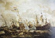 Abraham Storck Four Days Battle, 1-4 June 1666 oil painting