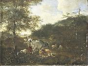 Adam Pijnacker Landscape with cattle oil painting