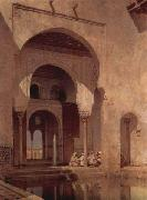 Adolf Seel Alhambra oil painting