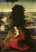 Adriaen Isenbrant Madonna and Child in a landscape oil painting